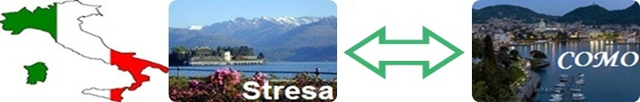 Private transfer from City Stresa to Como and conversely